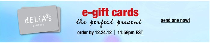 e-gift cards the perfect  present