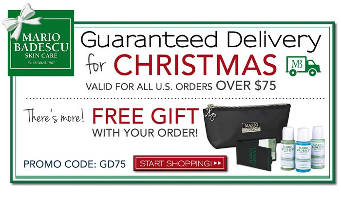 Guaranteed Delivery before Christmas. Place your order today and we will guarantee it gets there in time for the holiday. Need to get for someone still, this is the pefect opportunity to finish your holiday shopping. You will also get a gift with purchase.