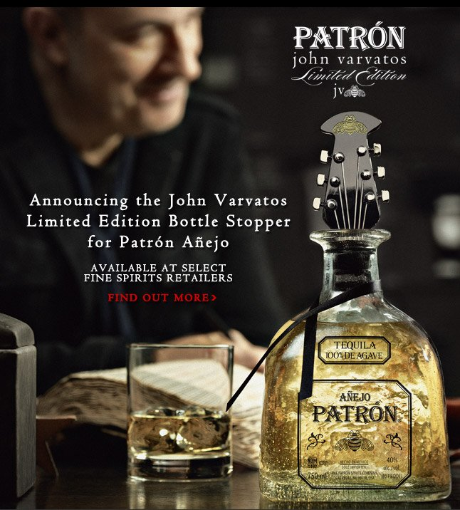 Announcing the John Varvatos Limited Edition Bottle Stopper for Patrón