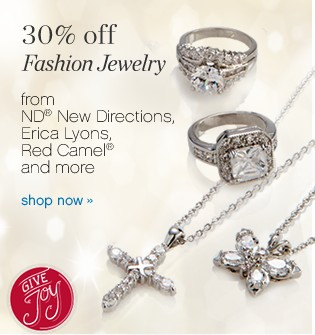 30% off Fashion Jewelry from ND® New Directions, Erica Lyons and Red Camel® and more. Shop now