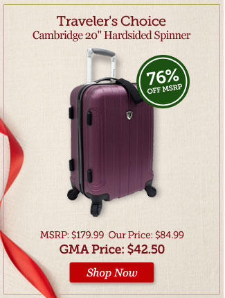 Traveler's Choice Cambridge 20 in. Hardsided Spinner - Shop Now >
