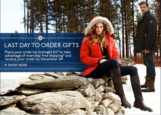 Last Day to Order Gifts