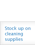 Stock up on cleaning supplies