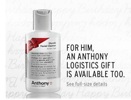 For him, an Anthony Logistics gift is available too. | See full-size details