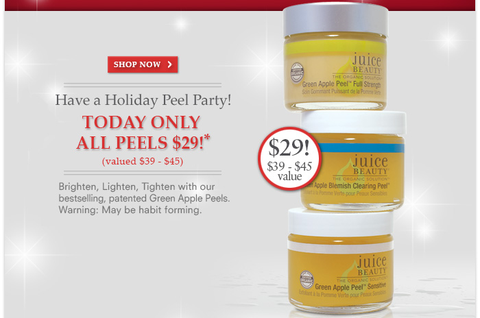 Have a holiday Peel Party!