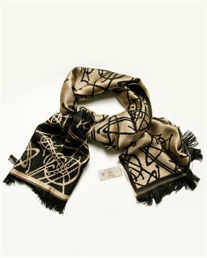 Vivienne Westwood Two-Tone Graphic Print Scarf