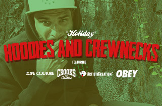 Hoodies and Crew Neck Sweatshirts