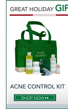 Is someone you love suffering from acne? Give the gift of our top acne treatments all in one kit