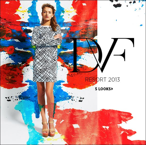 Featuring pop colors and painterly prints, DVF's resort collection showcases the optimistic fashion that has become her signature. Shop Diane von Furstenberg >>