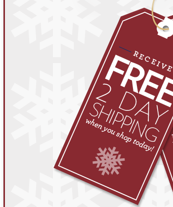 Free 2 Day Shipping when you shop today!
