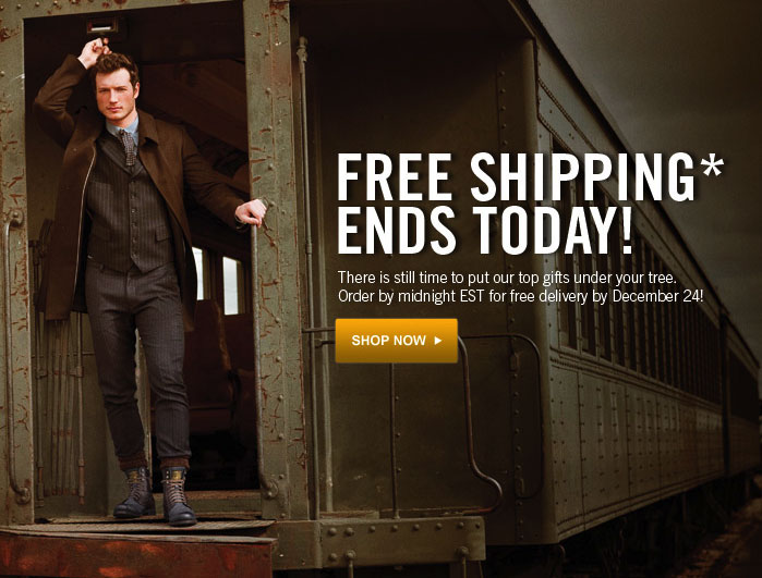Free Shipping Ends Today!