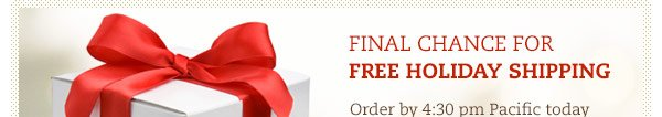 Final Chance for Free Holiday Shipping