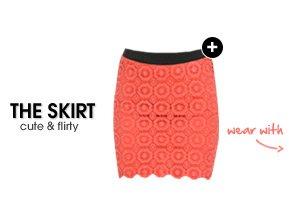 Medallion Crochet Bodycon Skirt