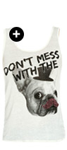 Mustache Frenchie Tank