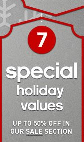 Shop Special Holiday Values  »