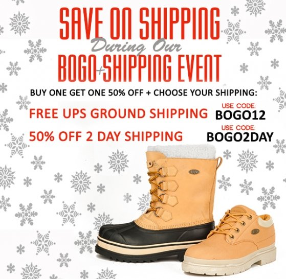 Buy One, Get One 50% OFF + Free Ground Shipping