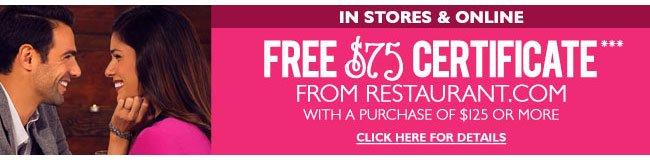 Free Restaurant.com Gift Certificate