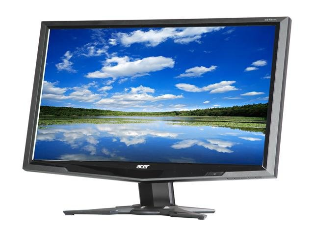Acer G245HQLbd Black 23.6 inch 5ms Widescreen LED Monitor 300 cd/m2 ACM 100,000,000:1 (1000:1)