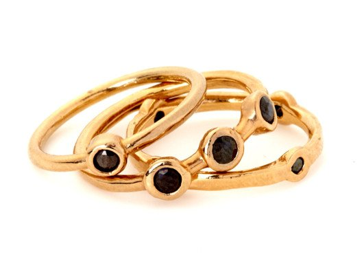 These look stunning stacked on top of each other, but you can also wear them solo on different fingers for a more delicate look.