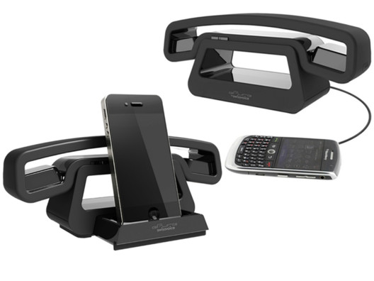 With a retractable charging dock and a revolutionary modern design, you may not want to take calls any other way.