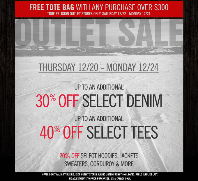 Outlet Sale Starts Thursday: Up To An Additional 40% Off Select Styles + Free GWP
