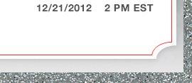 12/21/2012 | 2 PM EST