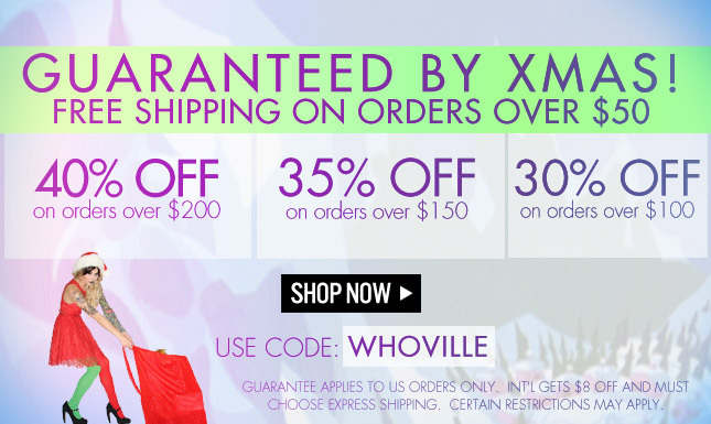 Free Shipping on orders over $50! 40% Off orders over $200