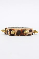 The Leopard Bracelet with Gold Spikes