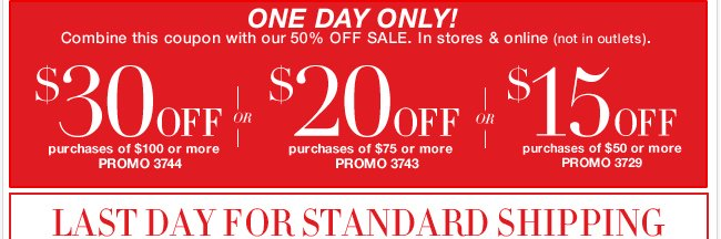 ONE DAY to take advantage of EXTRA savings! Shop Now