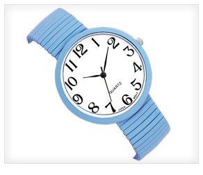 Sky Blue Stretch Watch