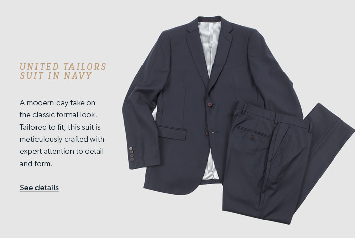 UNITED TAILORS SUIT IN NAVY