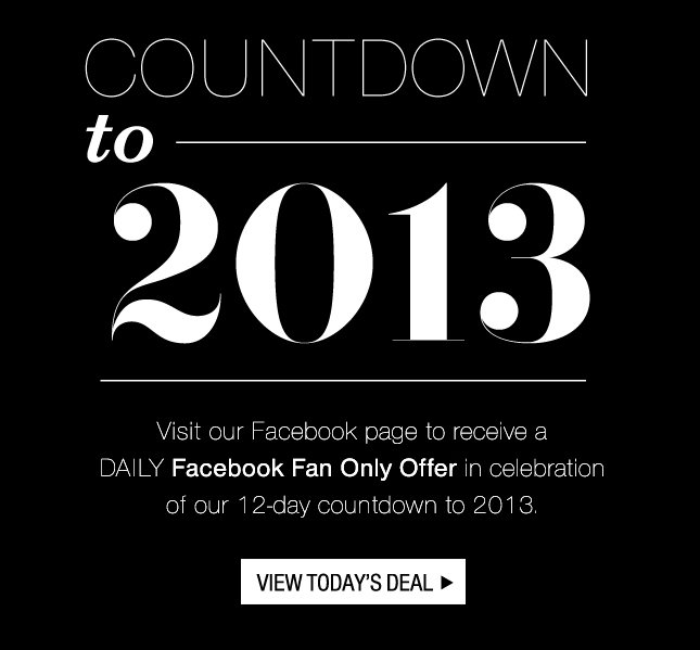 A Deal A Day- Countdown to 2013 & Save!