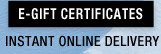 E-Gift Certificates - Instant Online Delivery
