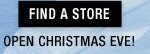 Find a Store - Open Christmas Eve
