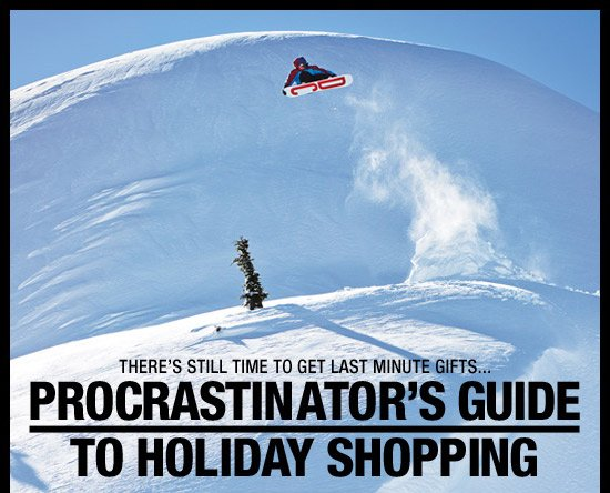 There's still time to get last minute gifts...Procrastinator's Guide to Holiday Shopping