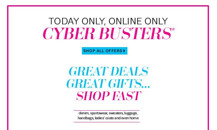 Cyber Busters Shop All Offers