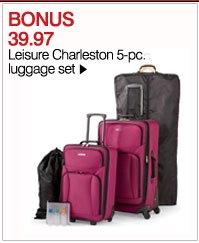 BONSU 39.97 Leisure Charleston 5-pc. luggage set. Shop now.