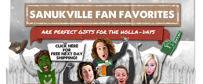 Sanukville fan favorites are perfect gifts for the holla-days - click here for free 2 day shipping!
