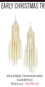 Feather Chandelier Earrings