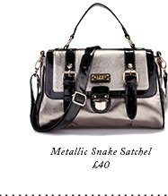 Metallic Snake Satchel