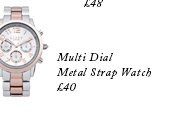 Multi Dial Metal Strap Watch