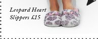 Leopard Heart Slippers