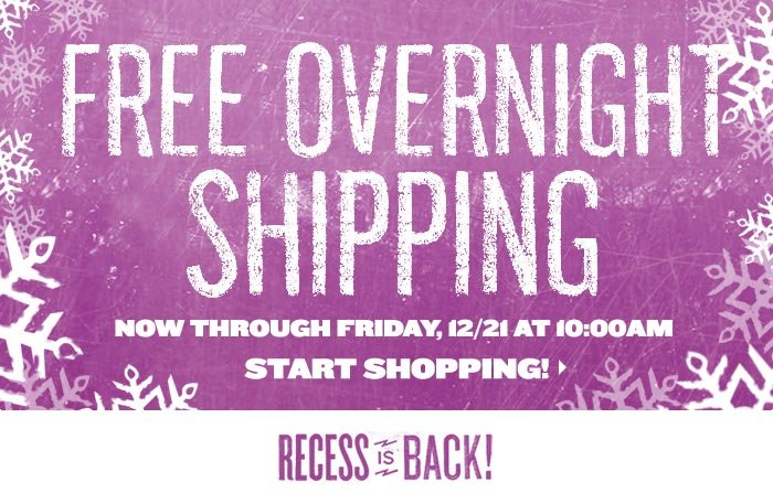 Free Overnight Shipping!