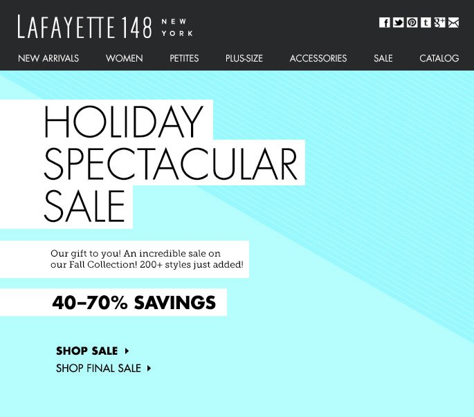 Holiday Spectacular: New markdowns on 200+ Styles