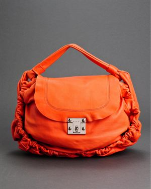 Marni LU Genuine Leather Ruched Handbag $999