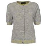 Paul Smith Knitwear - Grey Marl Short Sleeved Cardigan