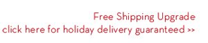 Free Shipping Upgrade click here for holiday delivery guaranteed.