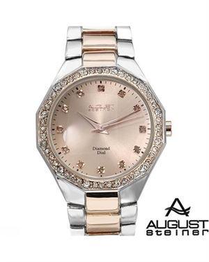 Brand New AUGUST STEINER Swiss Movement Diamond Ladies Watch
