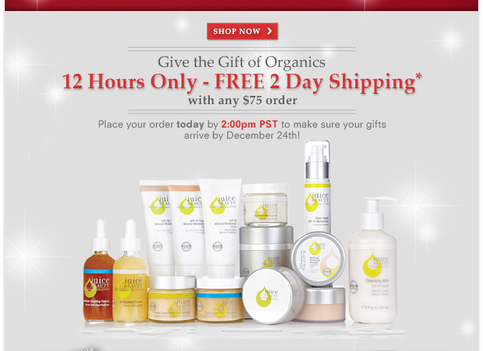 12 Hours Only - FREE 2 Day Shipping on any $75 order!