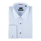 Paul Smith Shirts - Sky Blue Diamond Jacquard Shirt, Double Cuff
